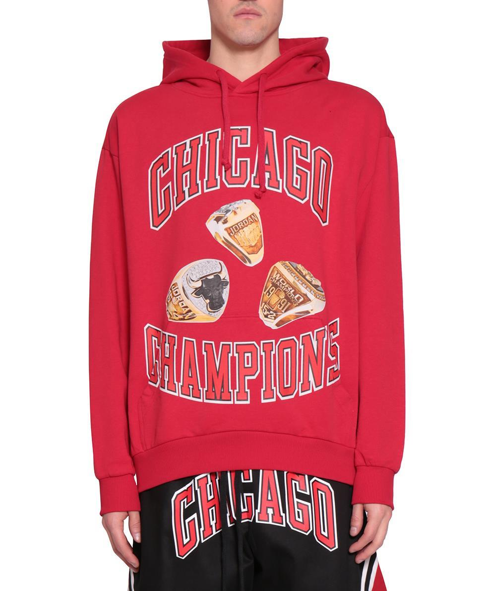 CHICAGO RINGS COTTON HOODIE