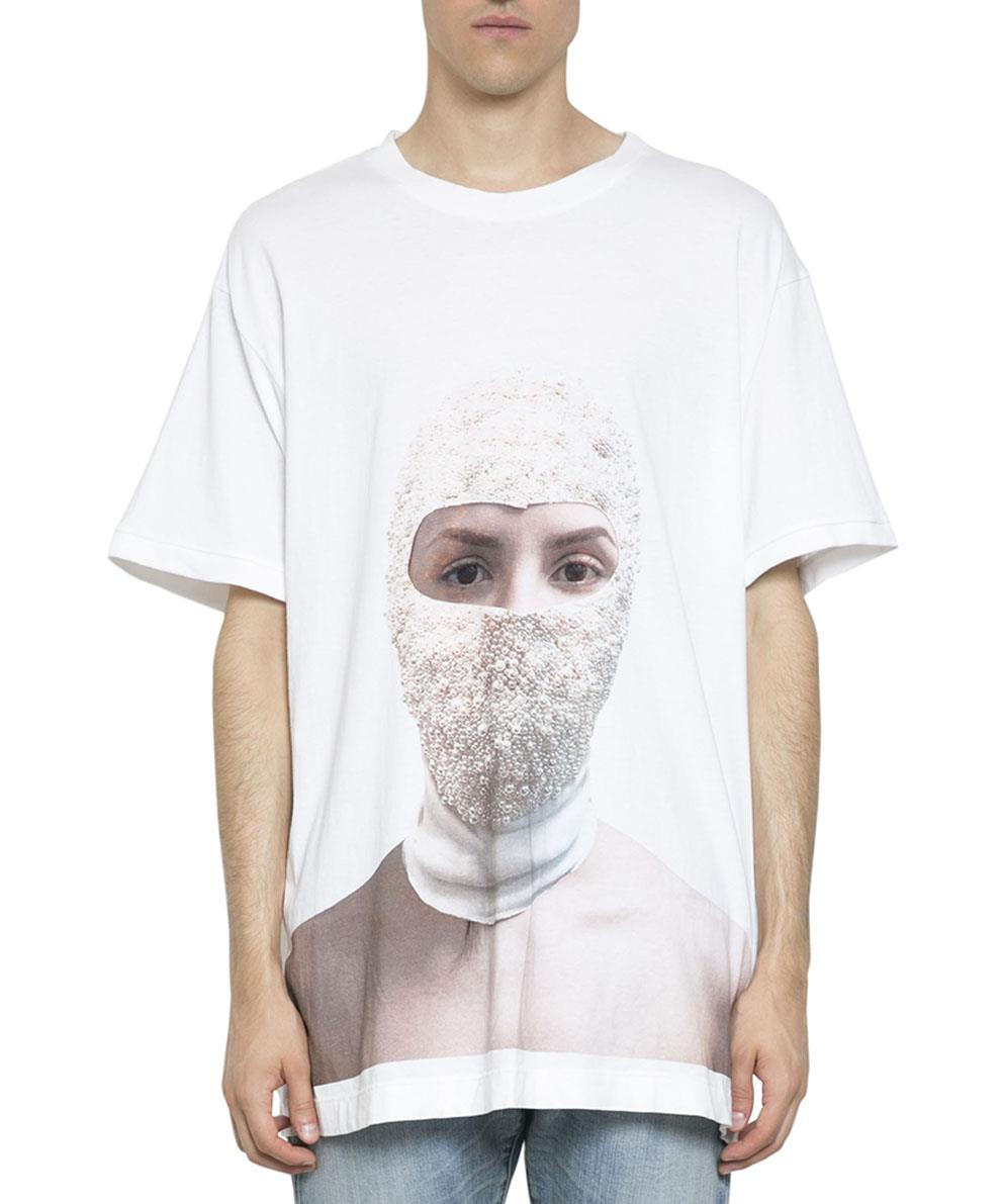 PRINTED FACE COTTON T-SHIRT